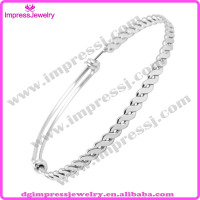 Alibaba cheap wholesale pure stainless steel twisted bangle