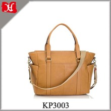 Leather Mummy Bag Tan Color With Changing Mat, Mulit-function Pockets