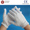 Cheap white cotton hand gloves cotton examination gloves