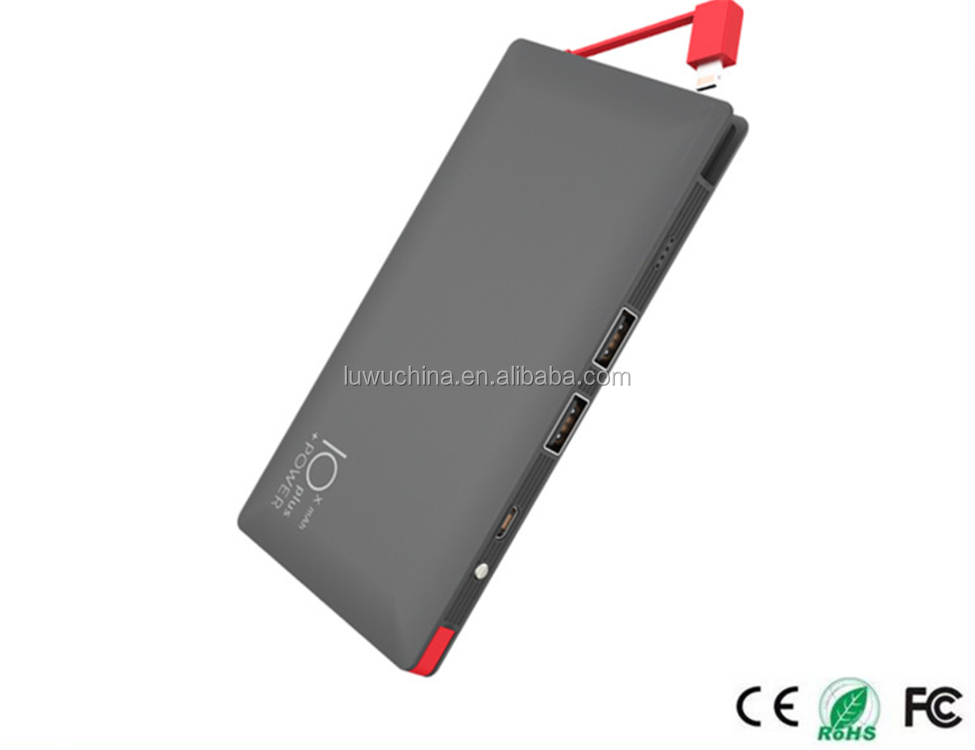 Best selling items Slim Power Bank For Smartphone with printing logo