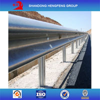 Protective Corrugated Galvanized Bridge Guardrail Design