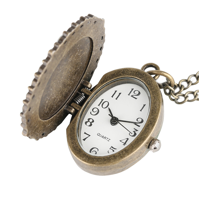 Vintage Elegant Pretty Beautiful Women Pattern Small Mini Quartz Pocket Watch for Lady Girl Neckalce Pendant Female Clock P62 (2)