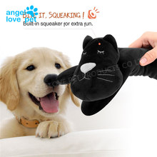 Soft Fuzzy Lying Cat Style Pet Plush Toy With Chew Guard Technology