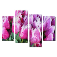 Gorgeous flowers violet group canvas printing