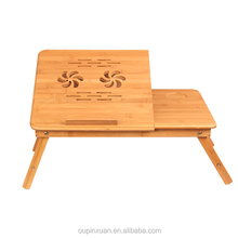 2016 new product, portable folding bamboo laptop table ,notebook table.