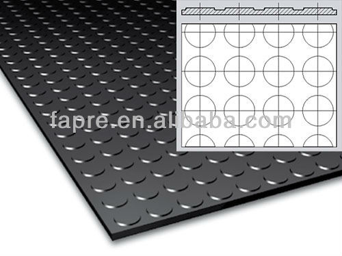 Anti-skid-slip Water-oil-Grease-proof Antistatic Coin Pattern Rubber Floor Mat
