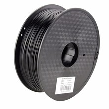 Highest quality 1.75mm 3.0mm 3d printing filament conductive ABS filament with Black color