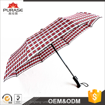 Dingfeng manufacturer wholesale high quality 8 ribs 23 inch waterproof foldable auto open umbrella