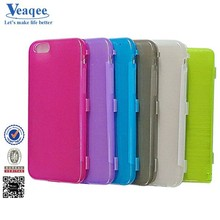Veaqee best selling products soft gel tpu case flip cover for iphone 6