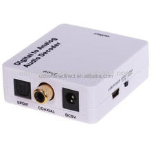 TV Digital S/PDIF to Analog Stereo RCA Audio Converter Dolby 5.1 7.1 Decoder,digital audio to analog audio converter