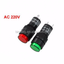 NXD-212 AC220V 12mm Yellow Neon Indicator Light Pilot Signal Lamp