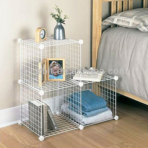 grid wire modular shelving and metal storage cubes