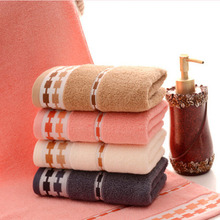 Wholesale cotton plain custom logo jacquard towel 32 yarn supermarket gift towel