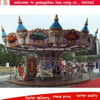 China amusement park castle colorful merry go round for sale