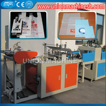 Fully Automatic Shopping Bag Plastic Machine Hot seal cut garbage bags production line