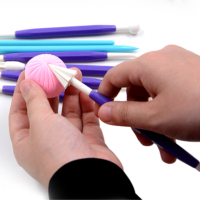 9pcs Double Heads Pottery Clay Sculpture Carving Tools Plastic ceramic Polymer Playdough artistic Arts Craft Handmade Tool