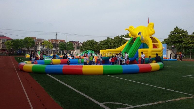 commercial giant inflatable water slide with pool/ water park for sale