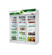 commercial ice cream display upright freezer 3door