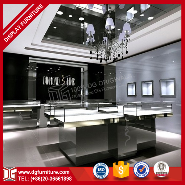 Modern Shop Interior Furniture Counter Jewellery Display Bangkok