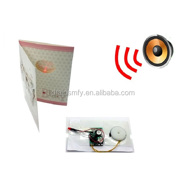 Preset Sound melody module for greeting card or paper bag