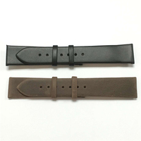 High-quality 1st class genuine leather replacement no-stitching simple watch band leather