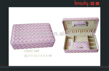 Multi-function pink leatherette jewelry display cases for sale
