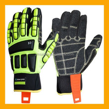 High Visibility Mechanics Style Impact Protection Miner Gloves