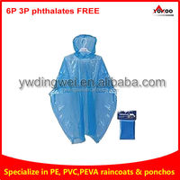 2013 Promotional Cheap PE waterproof disposable raincoat and poncho