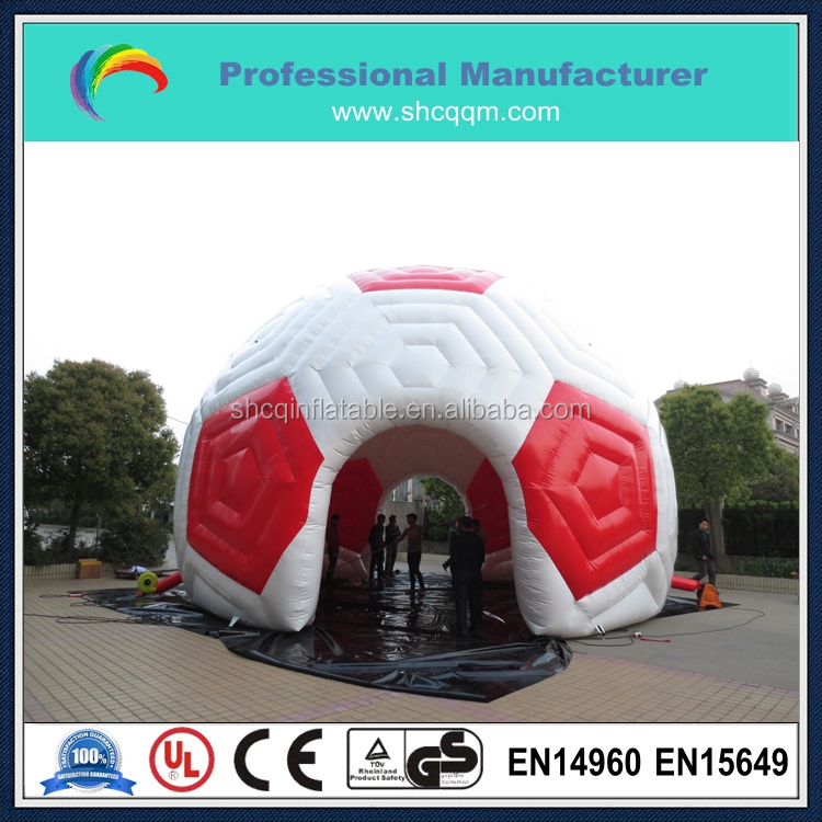 inflatable dome tent for kids/inflatable football tent