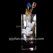 elegant decorative crystal flower vase