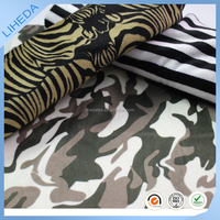 100% polyester warm print animal grain winter fabric for home textile/ toys/shoes