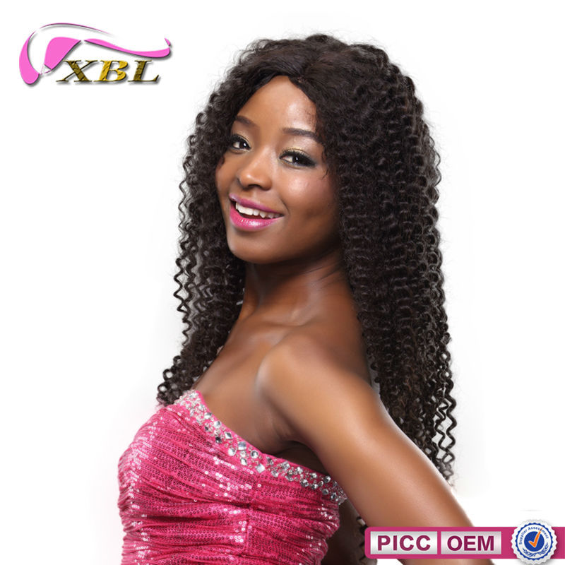 XBL Virgin Mongolian Hair 100 Percent Human Curly Hair Wave