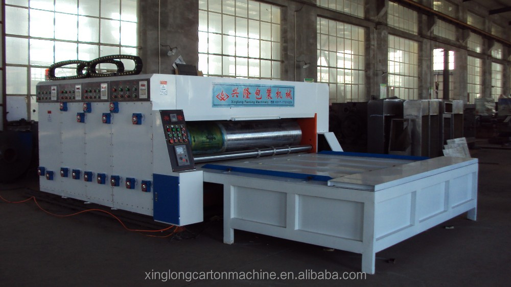 carton box semi-automatic flexo printer machine