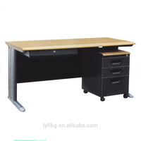 Factory Directly Steel Office Desk with Wooden Top