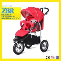 Cute and lovely rubber wheels baby stroller outstanding buggy flags