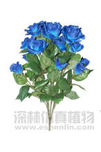BLUE ROSE ARTIFICIAL REAL TOUCH ROSES