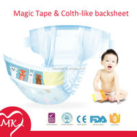 OEM available with free customized backsheet patterns design girl prefer pink disposable diapers