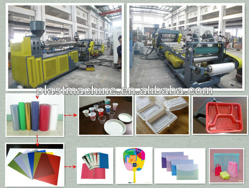2013 New design automatic PP plastic sheet roll extruder