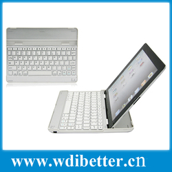High Quality Aluminum Bluetooth Keyboard for iPad 4 Pad 3 and iPad 2 - 3 in 1 Wireless Keyboard, Case and Stand