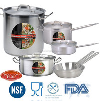 10pcs classic commercial stainless steel cookware set