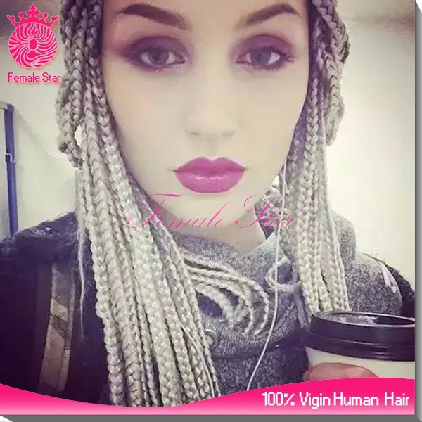 the top wig products gray micro braided lace front dreadlock wigs