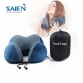 OEM factory wholesale folding portable carrying bag airplane neck pillows