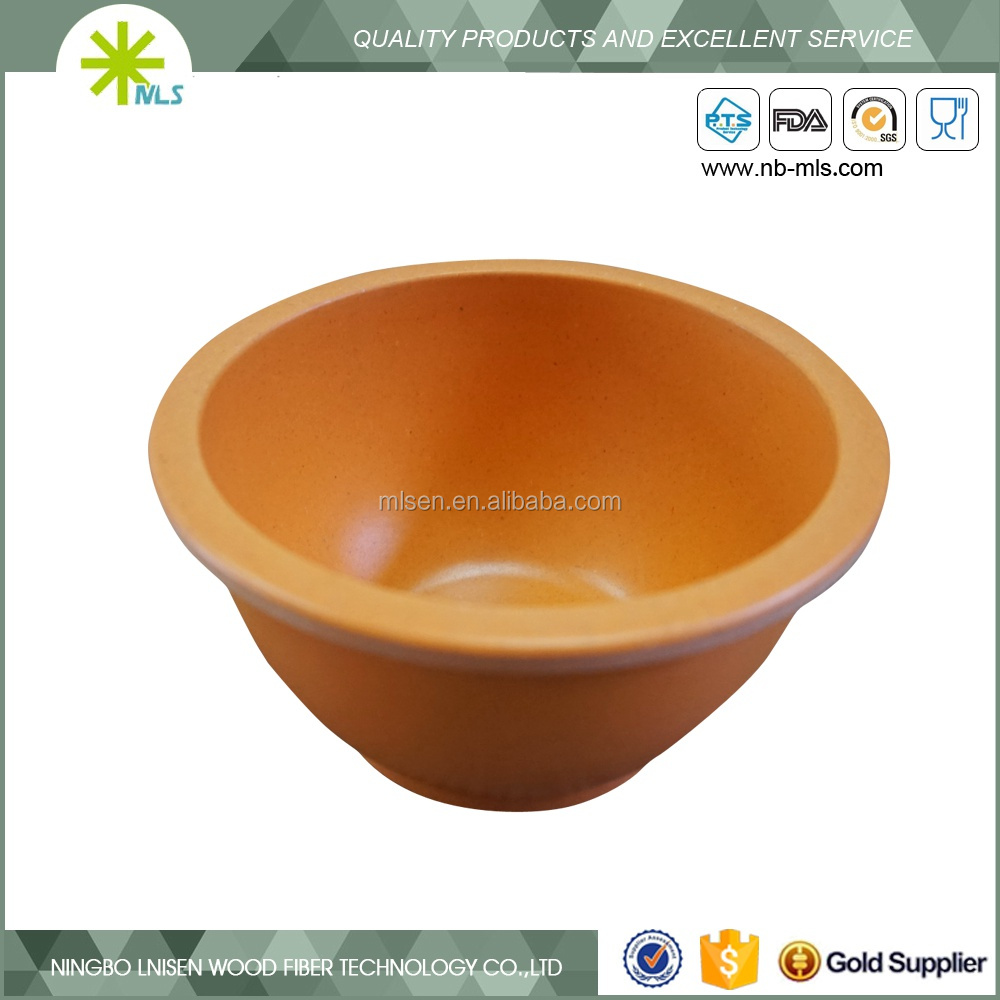 Natural green bamboo fiber biodegradable tabelware fruit/soup bowl