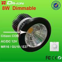 High quality dimmable MR16 12V LED spotlights 8w with ROHS CE EMC 3 years warranty