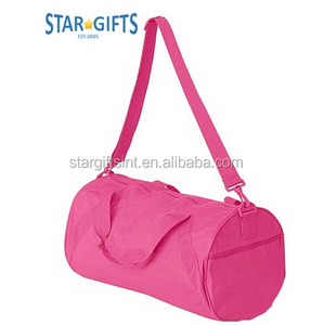 Alibaba China Manufacturers Pink Zip-Lock Round Lady Girls Large Capacity  Polyester Duffle Bag For c20a1f87bb8b6