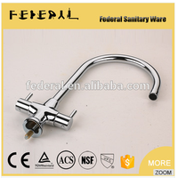 Chrome Plated High Quality Double Handle Modern Kitchen Sink Mixer Tap Chrom Bass Kitchen Faucet