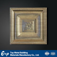 aluminum new style brass color ceiling panel for dining room decoration