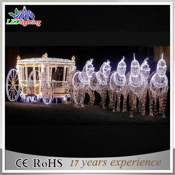 IP44 acrylic 24V 3D shaped led reindeer outdoor