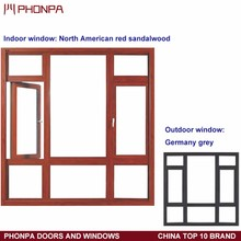 Double glass aluminum window newest design casement window china supplier