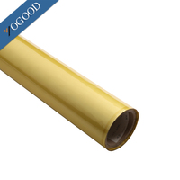 high glossy paper,leather fabric,plastic application pet/pvc gold heat transfer film